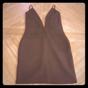 Solace London DEEP V Backless Mini Dress
